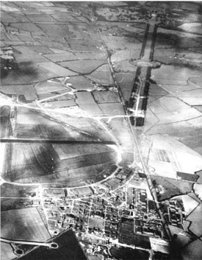 Aerial View of Bassingbourn Airbase (1943)