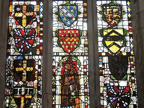 Heraldic Stained Glass, St Andrew's Church, Wimpole