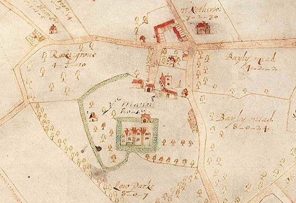 Benjamin Hare Map of Wimpole 1638