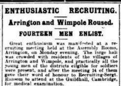 Newspaper Cutting - Friday 2 October 1914