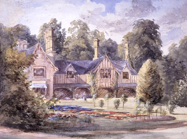 Wimpole Rectory c1835, a Watercolour by E T Yorke