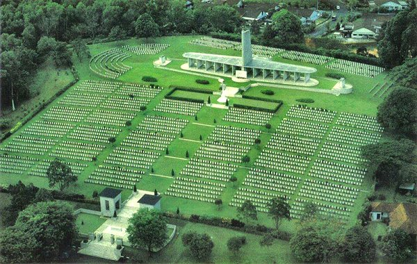 The Singapore Memorial in Kranji War Cemetery