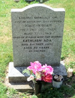 John and Kathleen's Gravestone in Wimpole Churchyard