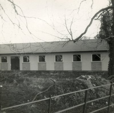 The new Wimpole Village Hall, under construction February 1977