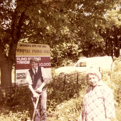 Site of the new Wimpole Village Hall c1976