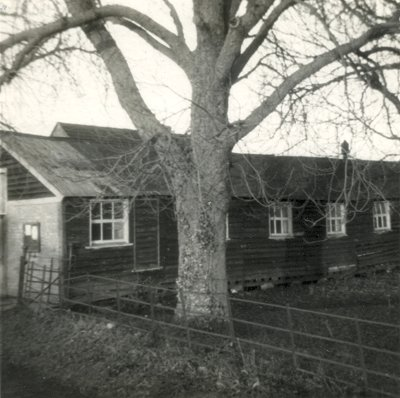The old Wimpole Village Hall, February 1977