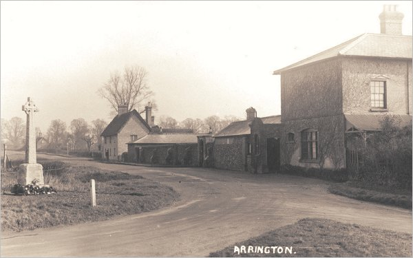 The Wimpole and Arrington War Memorial shortly after dedication c1921