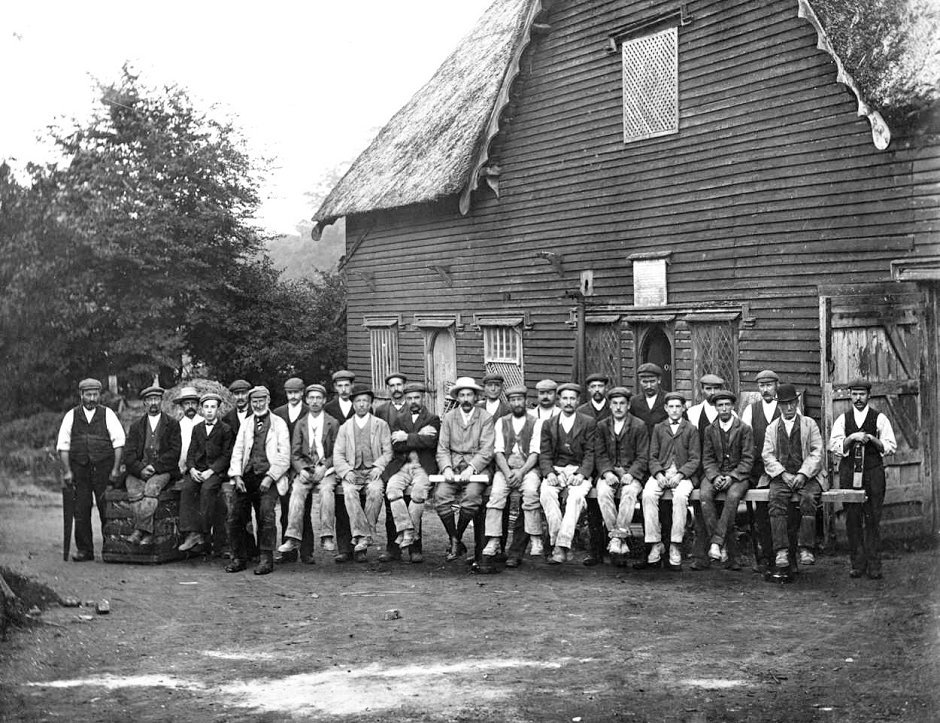 Estate Workers at Cobbs Wood Sawmill on the Wimpole Estate, c1905