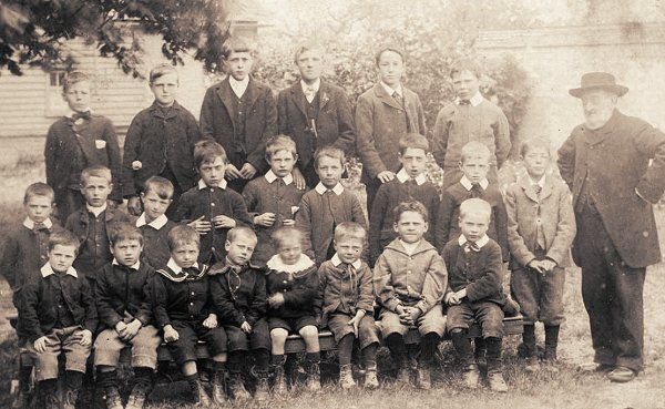 Boy Pupils, Wimpole Village School, c1900
